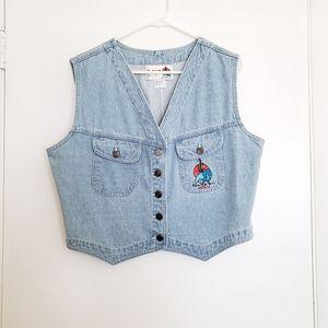 📍Vintage IMUS Blue Denim Jean Vest